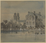 View of Paris, with St. Sulpice and part of the Luxembourg Palace