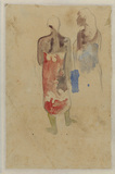 Tahitian man and woman, viewed from the rear (verso)