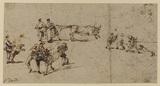 Scenes of bull baiting