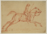 Galloping horse and rider