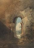 Doorway to the refectory, Kirkham Priory, Yorkshire