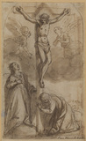 Christ on the Cross with the Magdalen and Saint Catherine