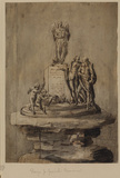 Design for a monument to Milton and Shakespeare