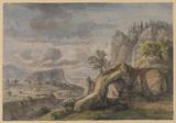 Imaginary landscape (recto)