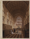 Interior of chapel at Wadham College, Oxford