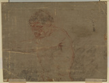 Nude male figure (upper half) (verso)