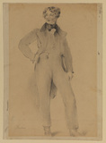 Portrait of a young man, full length, standing