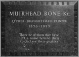 St Paul's Cathedral;The Crypt;Memorial to Muirhead Bone