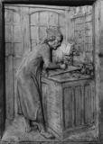 Viollet-le-Duc in his Study