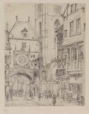 Street with the Gros Horloge, Rouen