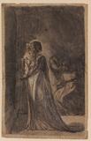 Lady Macbeth sleep-walking (recto)