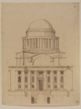 Design for Greenwich - west elevation of chapel, scheme of 1711