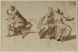 Three figures in Roman costume
