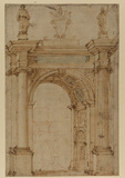 Design for a triumphal arch