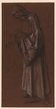 Draped male figure - study for a King in 'Star of Bethlehem'