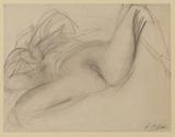 Recumbent female nude