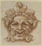 Ornamental mask - head of a satyr