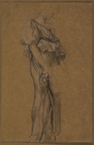 Study of a draped female figure