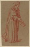 Ecclesiastic holding his baretta