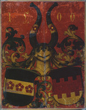 Coats of arms of Wespach and Ungelter families (verso)