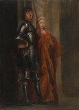 Saints George and Cecilia (after Antonello da Messina)