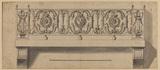 Design for a balcony in the cour de Marbre, Versailles