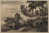 Landscape with rocks and trees