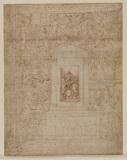 Scheme of fresco decoration of an altarpiece