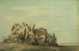 Landscape with rocks - Roch Rock, Cornwall