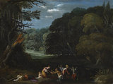 Latona changing the Lycian peasants into frogs (after Elsheimer?)