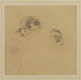 Portrait heads of three young girls