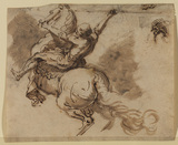 Warrior with lance on rearing horse