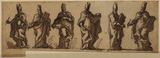 Six studies of a bishop holding a tablet (related to the decoration of the Chapel, Wimpole, Cambridgeshire)