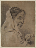 Young woman with a basket