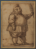 Caricature of a man (Mardi Gras) (recto)