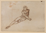 Reclining male nude (recto)