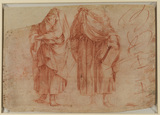 Two standing male figures (studies for Evangelists ?) (recto)