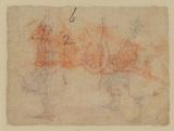 Sketch of a cart (verso)