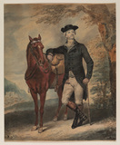 Man standing by a horse