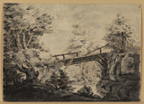Wood landscape with bridge