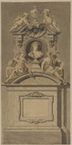 Design for a monument - to Nicholas Rowe (?)