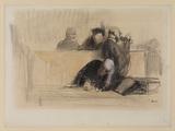 Scene de cour d'assises