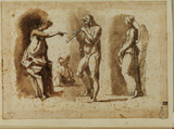 Three figures after the antique