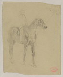 Study of a horse and jockey