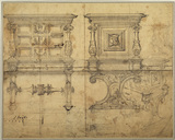 Front and side elevations and a general view of a chest