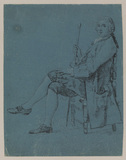 Seated figure of a man