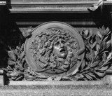 Monument to Schiller, plinth, detail, relief