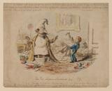 Political cartoon - The fete Napoleon at Chislehurst, August 1871