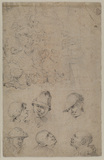 Studies of peasants - three figures (verso)