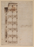 Front and side elevation of the boxes at the Teatro San Carlo, Naples